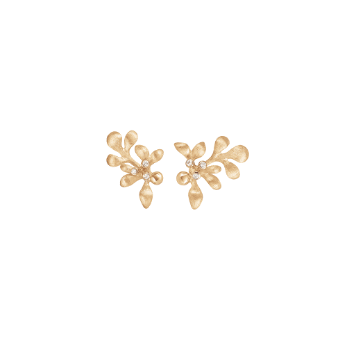 A2660-401 yellow gold gipsy earring studs