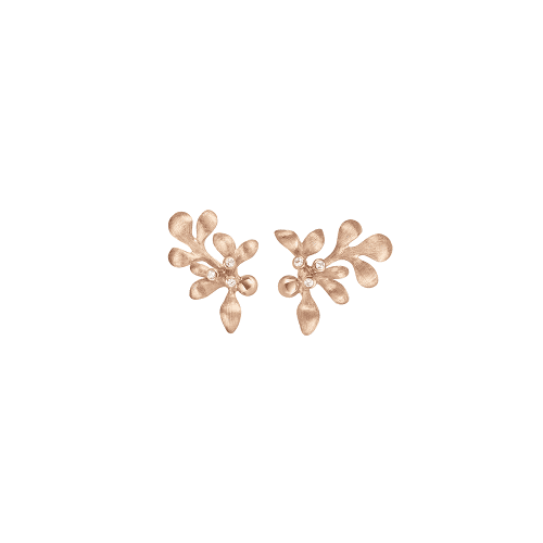 A2660-701Rose gold gipsy earring studs