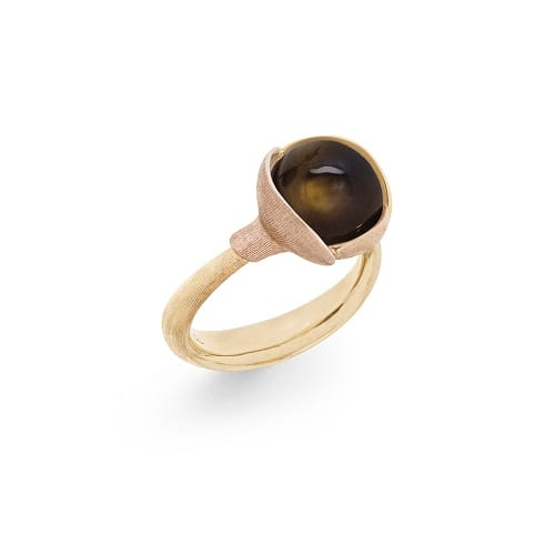 Ole Lynggaard Lotus Ring Smokey Quartz size 2