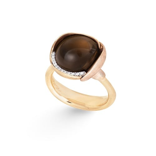 Ole Lynggaard Lotus Ring Smokey Quartz size 3