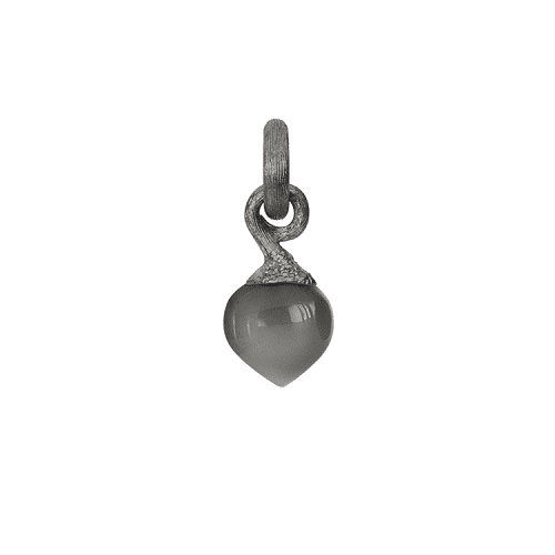 A2633-301 Sweet Drops charm in Sterling silver with grey moonstone