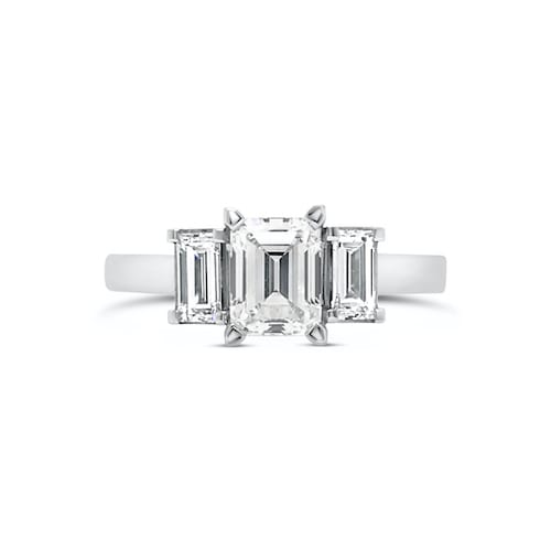 emerald-cut-diamond-trilogy-engagement-ring-white-gold-trewarne-melbourne-fortuna-goddess