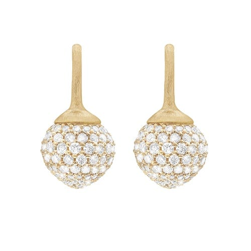 Ole Lynggaard Pave Dew Drops Earrings
