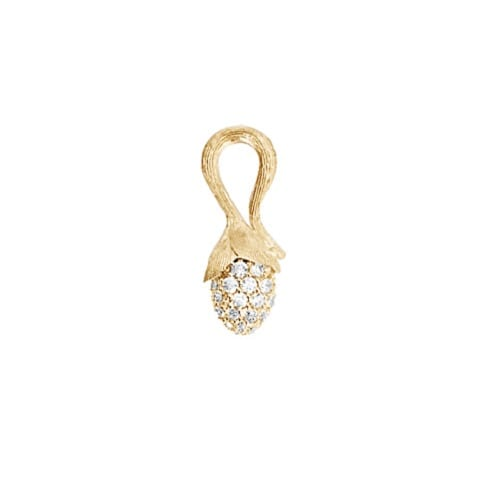 Ole Lynggaard Mini pave Lotus Pendant Sprout