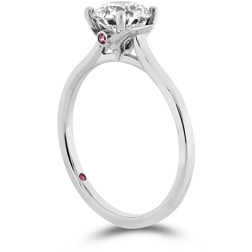Hearts on Fire Sloane Silhouette Engagement Ring white Gold