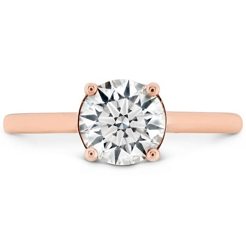 Hearts on Fire Sloane Silhouette Engagement Ring Rose Gold