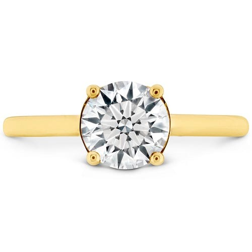 Hearts on Fire Sloane Silhouette Engagement Ring Yellow Gold
