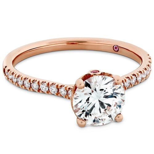 RG Hearts on Fire Sloane Silhouette Engagement Ring with Diamond Band
