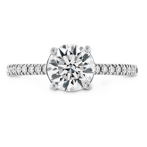 WG Hearts on Fire Sloane Silhouette Engagement Ring with Diamond Band
