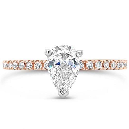 Alectrona Pear Goddess Engagement Ring Melbourne