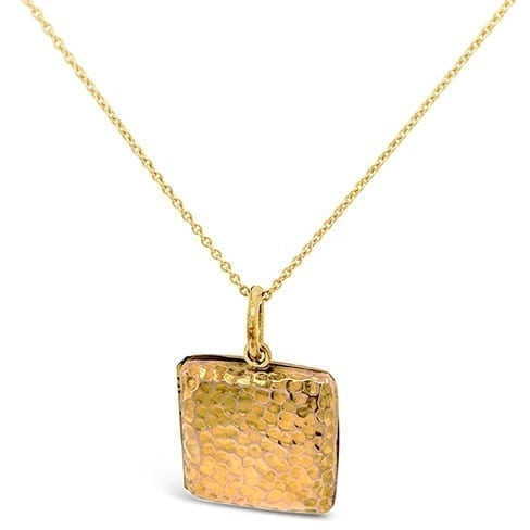 Antique Engraved Square Gold Locket Melbourne