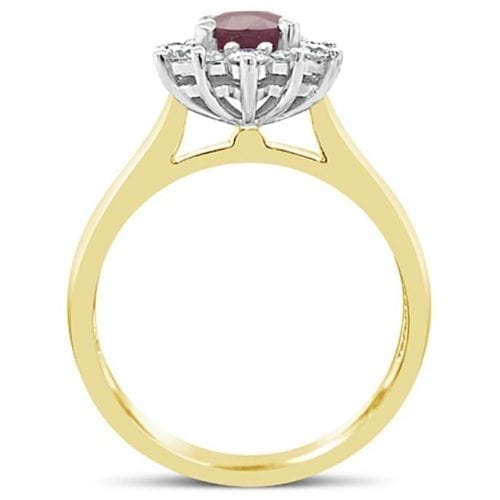 Aurora Ruby Goddess Engagement Ring Trewarne Melbourne