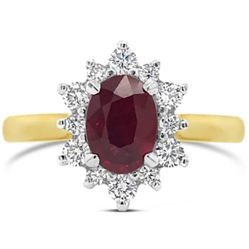 Aurora Ruby Goddess Engagement Ring Melbourne