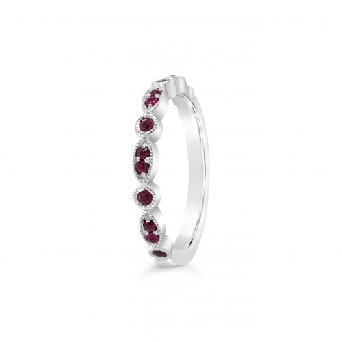 Celeste Moon Ruby Goddess Wedding Ring Trewarne Melbourne
