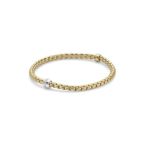 Fope Eka Tiny Yellow Gold Bracelet Melbourne