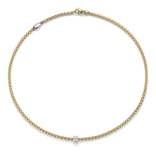 Fope Eka Tiny Yellow Gold Necklace Melbourne