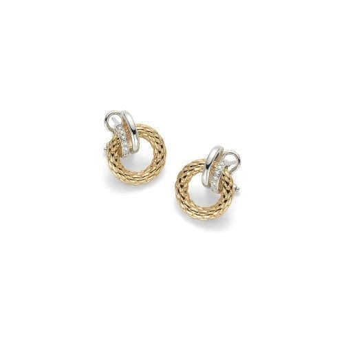 Fope Solo Yellow Gold Earrings Melbourne