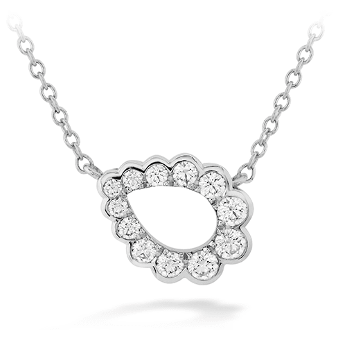 Hearts On Fire Aerial Regal Scroll Teardrop Diamond Necklace Melbourne