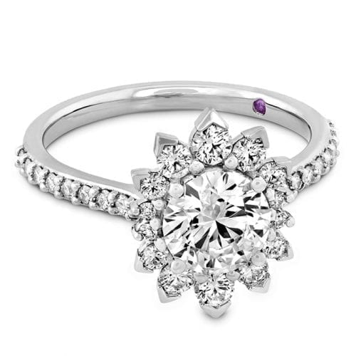 Hearts On Fire Behati Say It Your Way White Gold Oval Engagement Ring Trewarne Melbourne