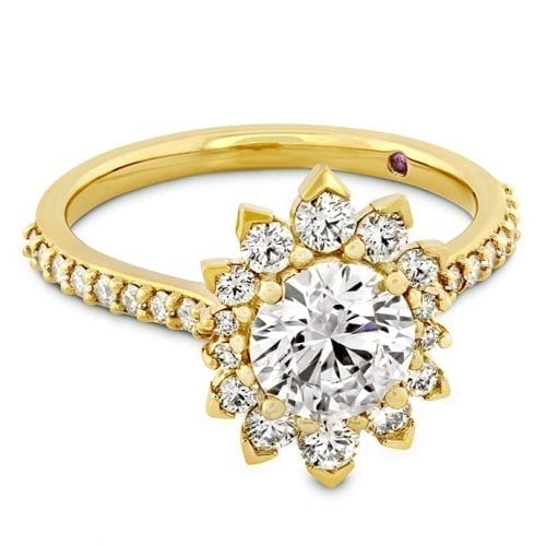 Hearts On Fire Behati Say It Your Way Yellow Gold Oval Engagement Ring Trewarne Melbourne