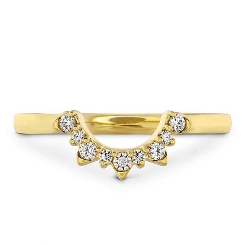 Hearts On Fire Behati Tiara Yellow Gold Band Melbourne