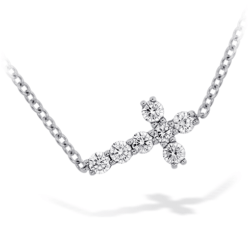 Hearts On Fire Charmed Horizontal Diamond Cross Necklace Melbourne