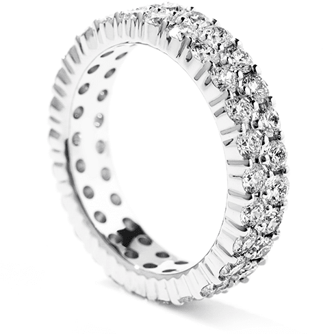 Hearts On Fire Double-Row Eternity Band Right Hand Ring Trewarne Jewellery Melbourne