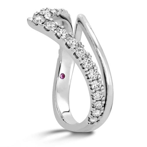 Hearts On Fire Harley Silhouette White Gold Power Band Trewarne Melbourne