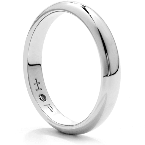 Hearts On Fire Men's Half-Round Comfort Fit Wedding Diamond Ring Trewarne Jewellery Melbourne