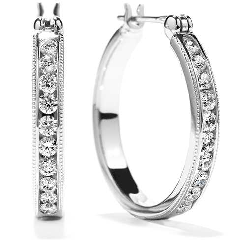 Hearts On Fire Milgrain Hoop Diamond Earrings Melbourne