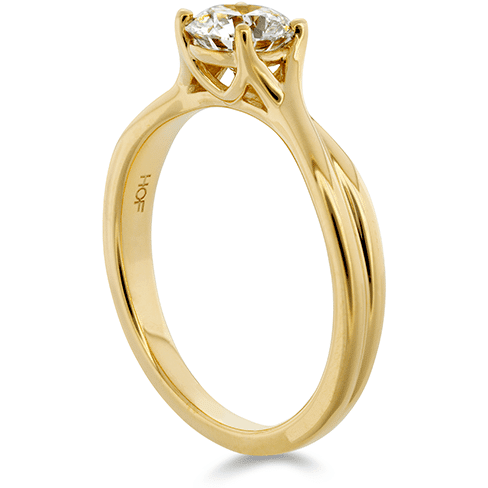 Hearts On Fire Simply Bridal Twist Solitaire Engagement Ring Trewarne Jewellery Melbourne