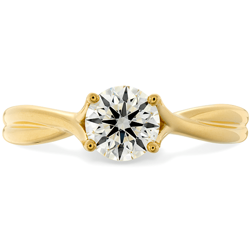 Hearts On Fire Simply Bridal Twist Solitaire Engagement Ring Melbourne