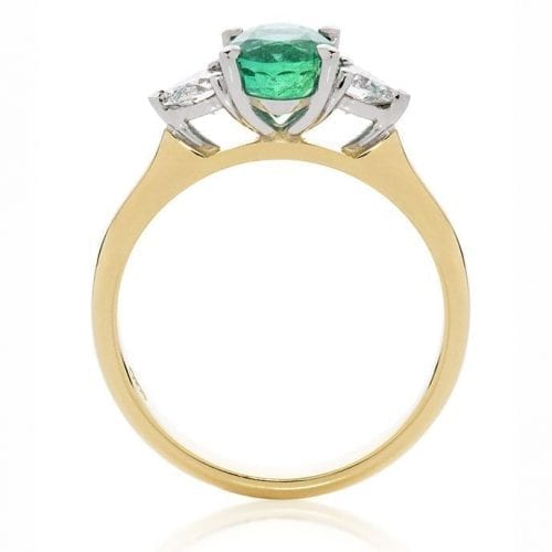 Iris Emerald Goddess Engagement Ring Trewarne Melbourne