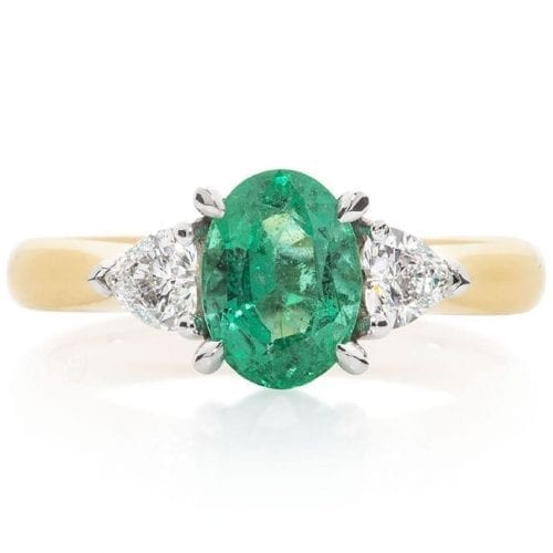 Iris Emerald Goddess Engagement Ring Melbourne