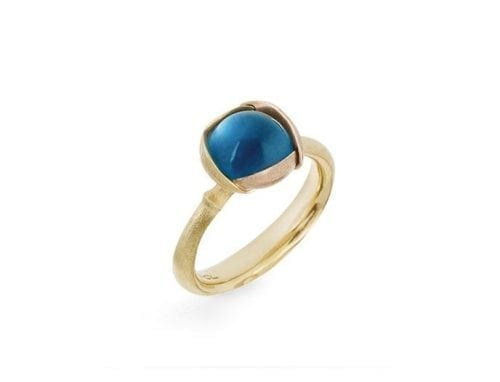 Ole Lynggaard Lotus Ring London Blue Topaz size 1 A2650-423 Trewarne Jewellery Melbourne