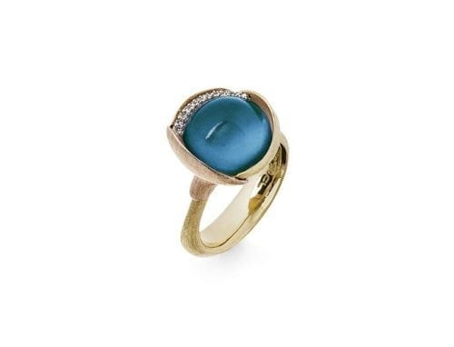 Ole Lynggaard Lotus Ring London Blue Topaz size 3 A2652-423 Trewarne Jewellery Melbourne