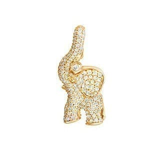 Ole Lynggaard Elephant Charm 18K Yellow Gold & Diamonds Melbourne