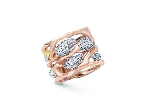 Ole Lynggaard Golden Forest Pendant Ring  18K Rose Gold Pave' x198 Diamonds A3020-701 Trewarne Jewellery Melbourne