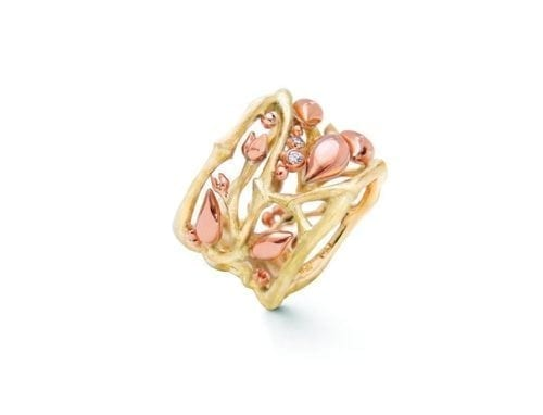 Ole Lynggaard Golden Forest Pendant Ring  18K Yellow & Rose Gold