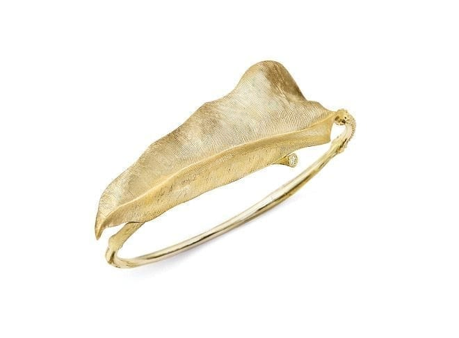Ole Lynggaard Leaves Bangle Yellow Gold Large A2872-401 Trewarne Jewellery Melbourne