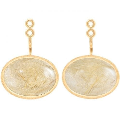 Ole Lynggaard Lotus Earring Drop Large 18K Yellow Gold