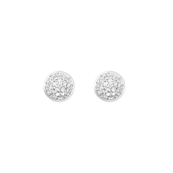 Ole Lynggaard Lotus Earrings 18K White Gold & Pave Diamonds Melbourne