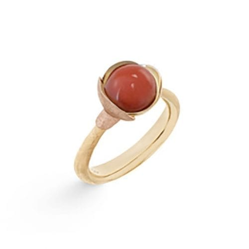 Ole Lynggaard Lotus Ring 1 Red Coral Melbourne