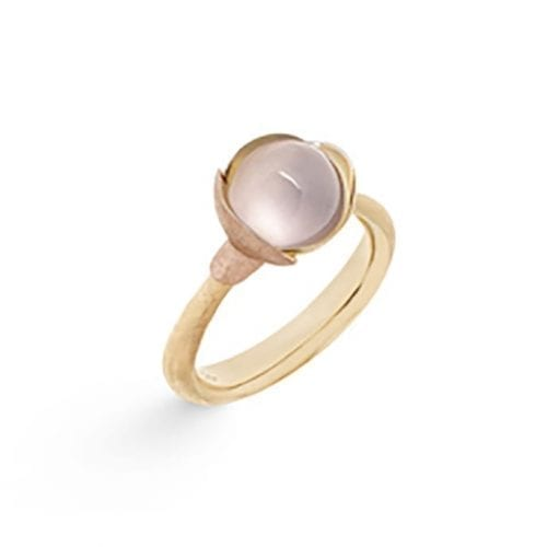 Ole Lynggaard Lotus Ring 1 Rose Quartz Melbourne