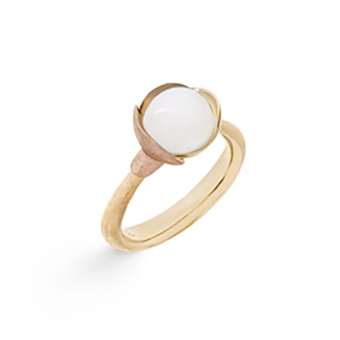 Ole Lynggaard Lotus Ring 1 White Moonstone Melbourne