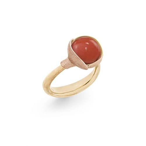 Ole Lynggaard Lotus Ring 2 Red Coral Melbourne