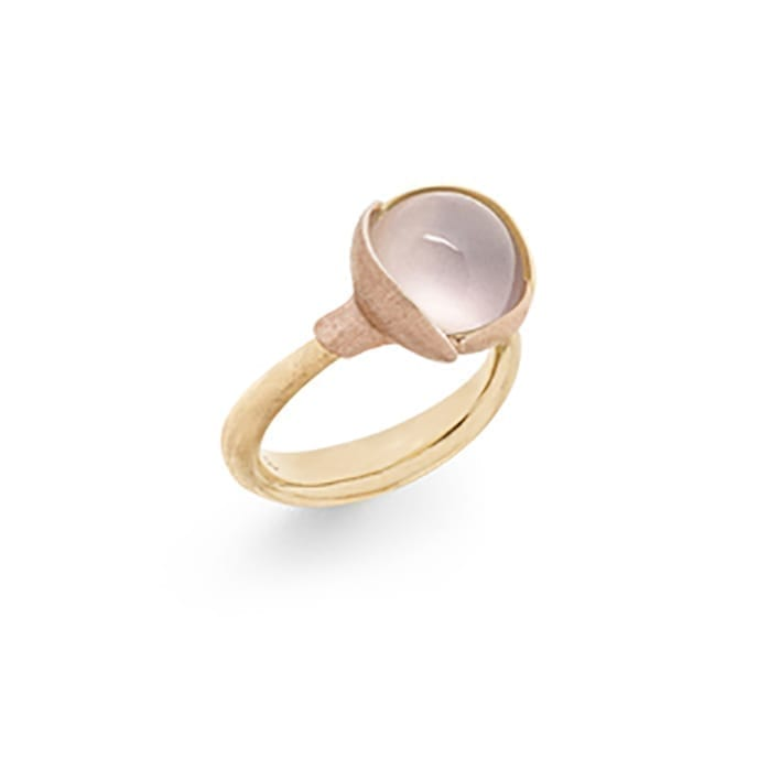 Ole Lynggaard Lotus Ring 2 Rose Quartz Melbourne