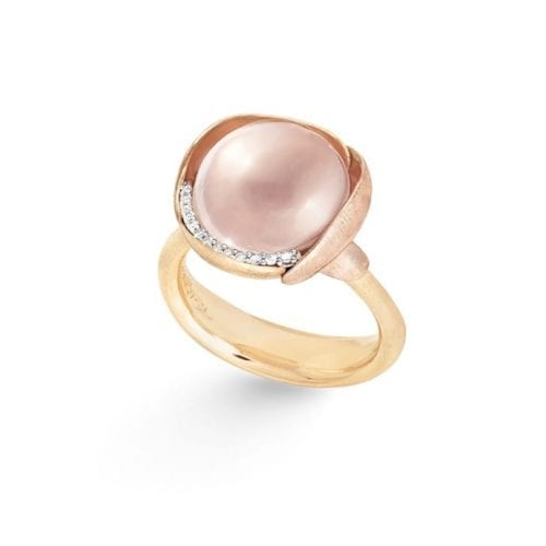 Ole Lynggaard Lotus Ring 3 Rose Quartz Melbourne