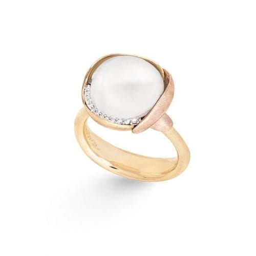Ole Lynggaard Lotus Ring 3 White Moonstone Melbourne