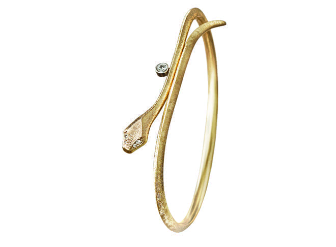 Ole Lynggaard Snake Bangle Yellow Gold A2793-402 Trewarne Jewellery Melbourne